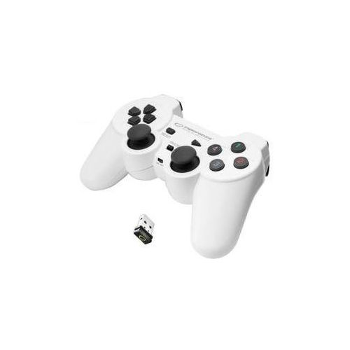 Gamepady, Gamepad Esperanza EGG108W Gladiator pro PC/PS3 (EGG108W - 5901299947272) Biały