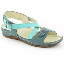 Sandały damskie Helios 215 - zielony ||turkusowy