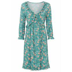 Długa sukienka shirtowa bonprix brunatny