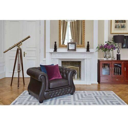 Fotele i krzesła biurowe, Fotel CHESTER LUX brązowy