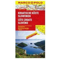 Wybrzeże Chorwacji, Dalmacja 1:300 000. Chorwacja, Słowenia. Mapa samochodowa, składana. Marco Polo (opr. broszurowa)