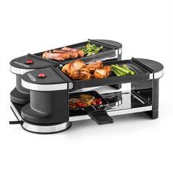 Klarstein Tenderloin grill mini-raclette 600 W 360°podstawa 2 płyty grillowe