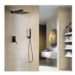 NEGRO Podtynkowy zestaw prysznicowy, czarny