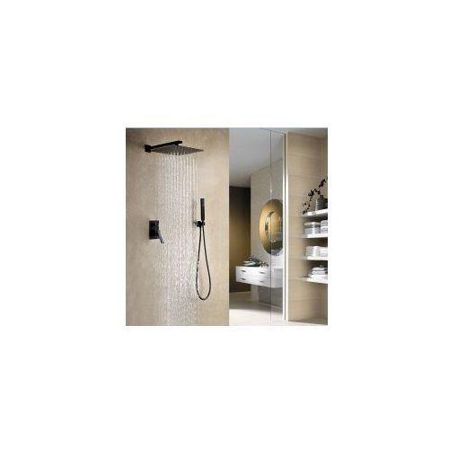 NEGRO Podtynkowy zestaw prysznicowy, czarny, negro_podtynkowy