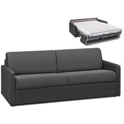 4-osobowa kanapa z ekspresowym mechanizmem rozkładania z tkaniny CALIFE - Kolor: szary - Wymiary miejsca do spania: 160 cm - Materac 14 cm