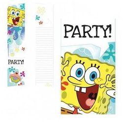 Zaproszenia urodzinowe Spongebob kanciastoporty - 6 szt.