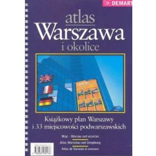 Mapy i atlasy turystyczne, Atlas Warszawa i okolice (opr. miękka)