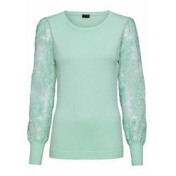 Sweter we wzór w warkocze bonprix antracytowy melanż