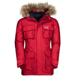 Kurtka zimowa dla dzieci ICE EXPLORER JACKET KIDS red lacquer - 140