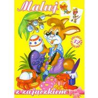 Książki dla dzieci, Maluj z Zajączkiem (opr. broszurowa)