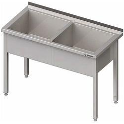 Stół z basenem dwukomorowym 1300x700x850 mm   STALGAST, 981377130