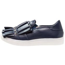 Lost Ink Wide Fit SARA RUFFLE AND STUD SLIP ON TRAINER Półbuty wsuwane navy