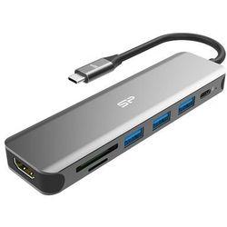 Stacja dokująca Silicon Power SU20 7in1 USB-C PD, - SPU3C07DOCSU200G- Zamów do 16:00, wysyłka kurierem tego samego dnia!
