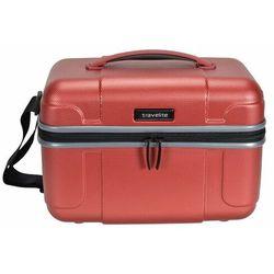 Travelite Vector kuferek podróżny / kosmetyczka twarda 20l / czerwony - koralowy ZAPISZ SIĘ DO NASZEGO NEWSLETTERA, A OTRZYMASZ VOUCHER Z 15% ZNIŻKĄ