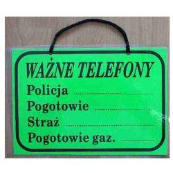TABLICA INFORMACYJNA - WAŻNE TELEFONY