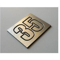 Numer Numery Cyfry Grawerowane na Drzwi aluminium2