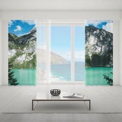Zasłona okienna na wymiar komplet - LAKE AT THE MOUNTAINS