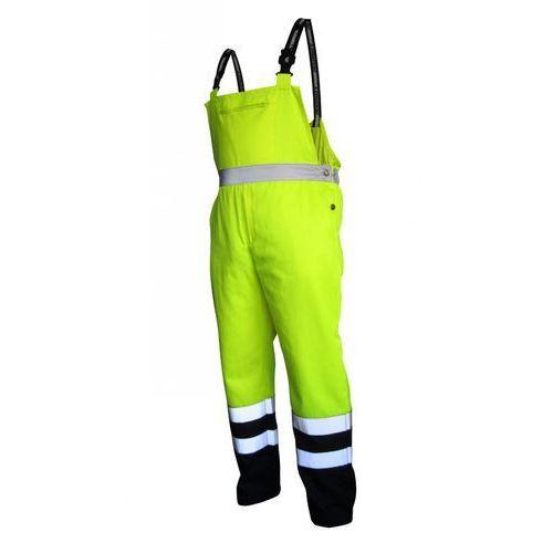 Spodnie i kombinezony ochronne, Spodnie na szelkach ostrzegawcze żółto-granatowe, rozmiar S