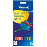 Kredki, Kredki ołówkowe akwarelowe 12 kolorów PELIKAN