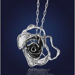 Srebrna biżuteria First Lady Broszko - Wisior - srebrna róża