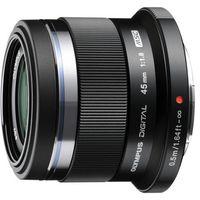 Obiektywy do aparatów, OLYMPUS M. 45 mm F1.8 UV czarny obiektyw z filtrem mocowanie Micro 4/3