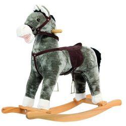 Bino koń na biegunach, pluszowy, szary
