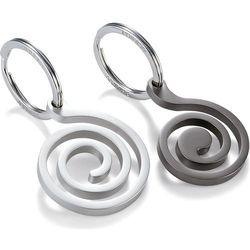 Brelok do kluczy Snail Philippi srebrny i szary (P273029)