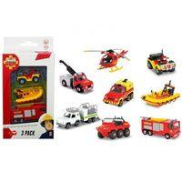 Straż pożarna dla dzieci, Strażak Sam pojazdy, 3pack, 1:64, 3 rodzaje