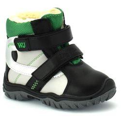 Buty zimowe dla dzieci Wojtyłko 20088 - Zielony ||Czarny