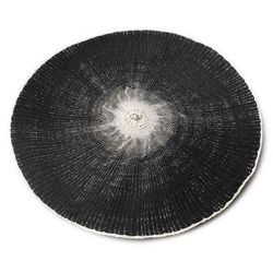 Okrągła czarna mata na stół naturalna eco 38cm