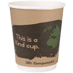Kompostowalne kubki dwuściankowe na kawę 227ml / 8oz Fiesta Green