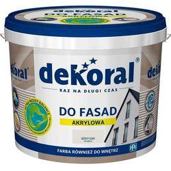 Farba akrylowa DEKORAL DO FASAD POLINIT beżowo szary 5 L