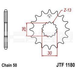 Zębatka przednia jt f1180-18, 18z, rozmiar 530 2200525 triumph speed triple 955