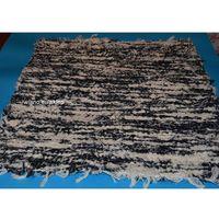 Wycieraczki, Chodnik bawełniany (wycieraczka) ręcznie tkany czarno-ecru 65x50