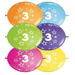 Girlanda balonowa z nadrukiem cyfra 3 - 300 cm - 1 kpl - 10 szt. balonów