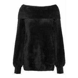 Sweter off-shoulder bonprix Sweter off-shoulder czarn