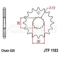 Zębatka przednia JT F1183-17, 17Z, rozmiar 525 2200552 Triumph Bonneville 865
