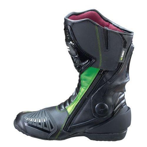 Buty motocyklowe, Skórzane buty motocyklowe W-TEC Brogun NF-6003, Zielony, 43
