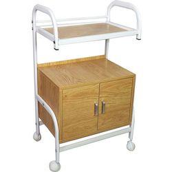 Mobilna szafka pomocnik kosmetyczna na kółkach Drewno Biała