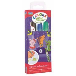 ALADINE Colors Flamastry brokatowe - Glitter Classic 3 szt.