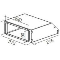 Pozostałe akcesoria do wentylacji, Łącznik - przejściówka 220x90 mm KACL.789 Szybka wysyłka / Największy wybór / Dobre ceny