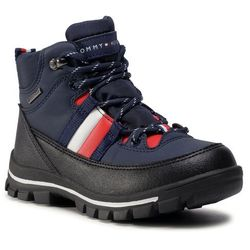 Trapery TOMMY HILFIGER - Technical Bootie T3B5-30968-0751800 M Blue 800