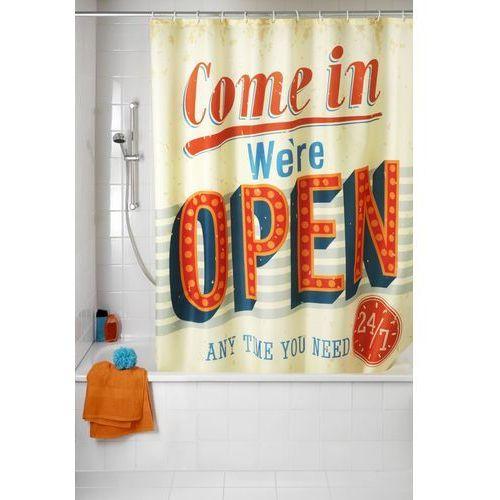 Wenko Zasłona prysznicowa, tekstylna, vintage open, 180x200 cm,