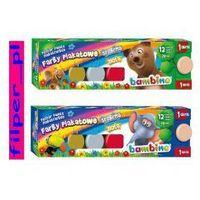 Farbki, Farby plakatowe BAMBINO, 12 kolorów + 1 GRATIS