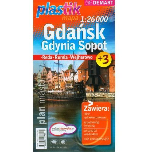 Mapy i atlasy turystyczne, GDAŃSK, GDYNIA, SOPOT. PLAN MIASTA (opr. miękka)