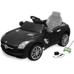vidaXL Samochód elektryczny dla dzieci Czarny Mercedes Benz SLS 6 V z pilotem Darmowa wysyłka i zwroty