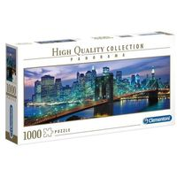 Puzzle, Puzzle 1000 High Quality Collection: Panorama New York, Brooklyn Bridge (39434). Wiek: 14+