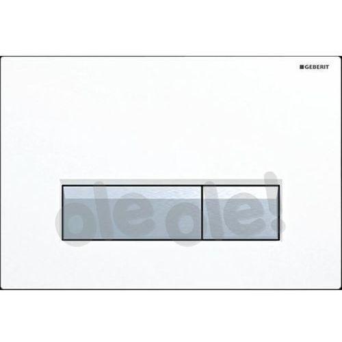 Geberit Sigma40 przycisk spłukujący do WC z odciągiem biały 115.600.KQ.1, 115600KQ1