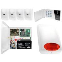Czujki alarmowe, System alarmowy do domu sklepu firmy z powiadomieniem GSM Satel Ropam