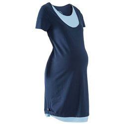 Sukienka ciążowa i do karmienia z dżerseju bonprix ciemnoniebiesko-jasnoniebieski